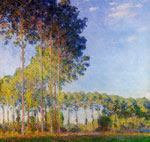 5704 Poplars on the Banks of the River Epte, Seen from the Marsh , 1891 Art Reproductions
