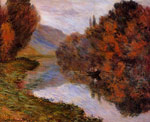 Monet, Claude Oscar Rowboat on the Seine at Jeufosse , 1884 Art Reproductions