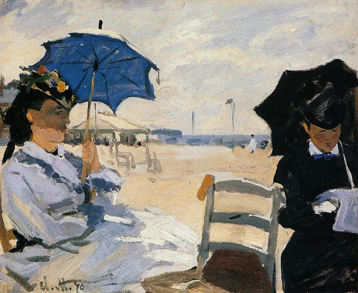 The Beach at Trouville , 1870	  Painting Reproductions