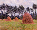 Monet, Claude Oscar Haystacks, Overcast Day , 1884 Art Reproductions
