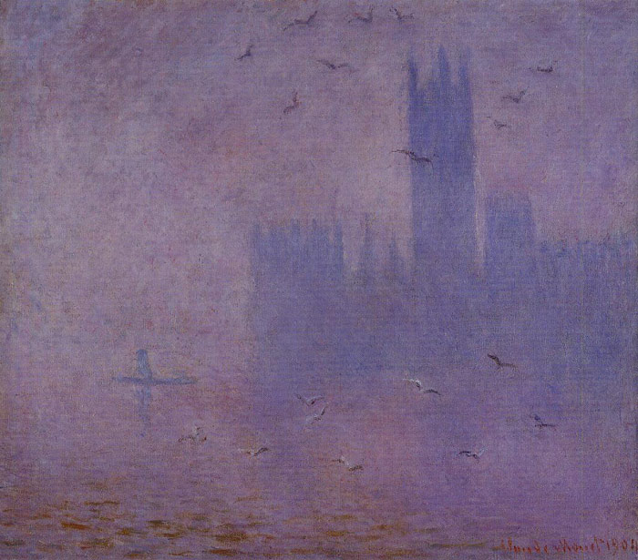 Houses of Parliament, Seagulls , 1900 Monet, Claude Oscar Painting Reproductions