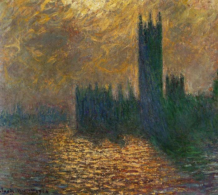 Houses of Parliament, Stormy Sky , 1900  Painting Reproductions