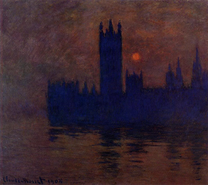 Houses of Parliament, Sunset , 1900	  Painting Reproductions