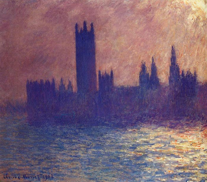 Houses of Parliament, Sunlight Effect , 1900	  Painting Reproductions