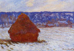 Monet, Claude Oscar Grainstack in Overcast Weather, Snow Effect , 1890	 Art Reproductions
