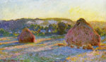 Monet, Claude Oscar Grainstacks at the End of Summer, Evening Effect , 1890	 Art Reproductions