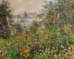 Monet, Claude Oscar Flowers at Vetheuil, 1881	 Art Reproductions