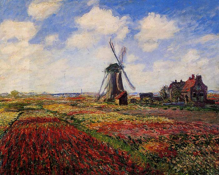 Field of Tulips in Holland , 1886 Monet, Claude Oscar Painting Reproductions