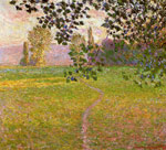 Monet, Claude Oscar Morning Landscape, Giverny, 1888	 Art Reproductions