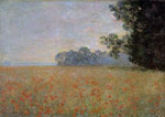 Monet, Claude Oscar Oat and Poppy Field , 1890	 Art Reproductions