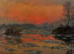 Monet, Claude Oscar Sunset on the Seine in Winter , 1880	 Art Reproductions