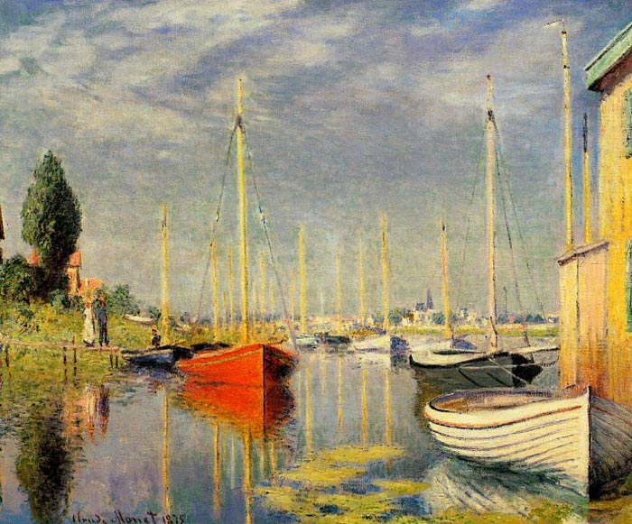 Yachts at Argenteuil, 1875  Painting Reproductions