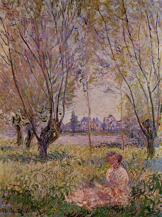 Woman Sitting under the Willows , 1880	  Painting Reproductions