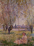 Monet, Claude Oscar Woman Sitting under the Willows , 1880	 Art Reproductions