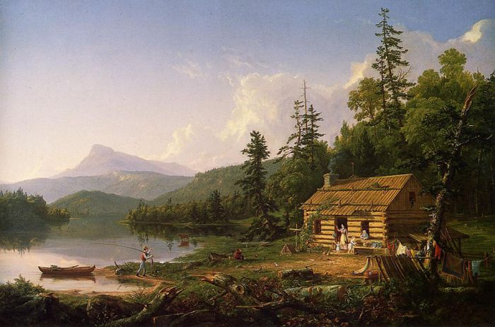 Home in the Woods, 1847  Painting Reproductions