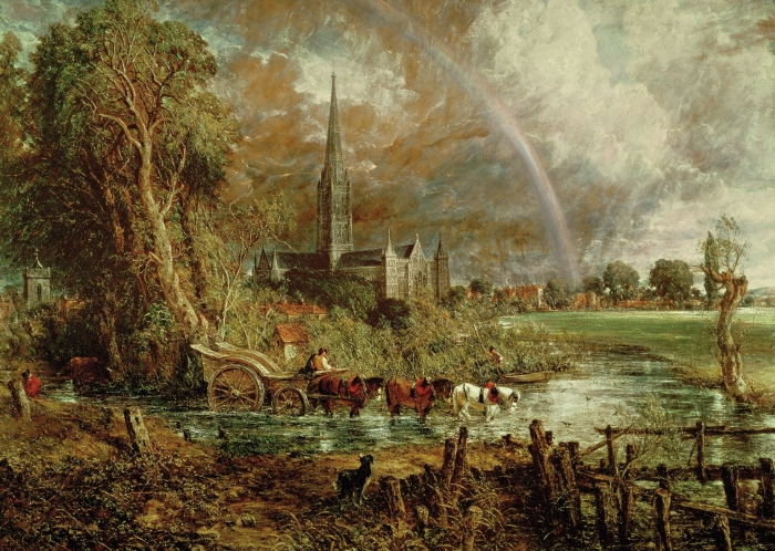 Salisbury Cathedral from the Meadows, 1831  Painting Reproductions