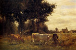 Troyon, Constant Cows Grazing Art Reproductions