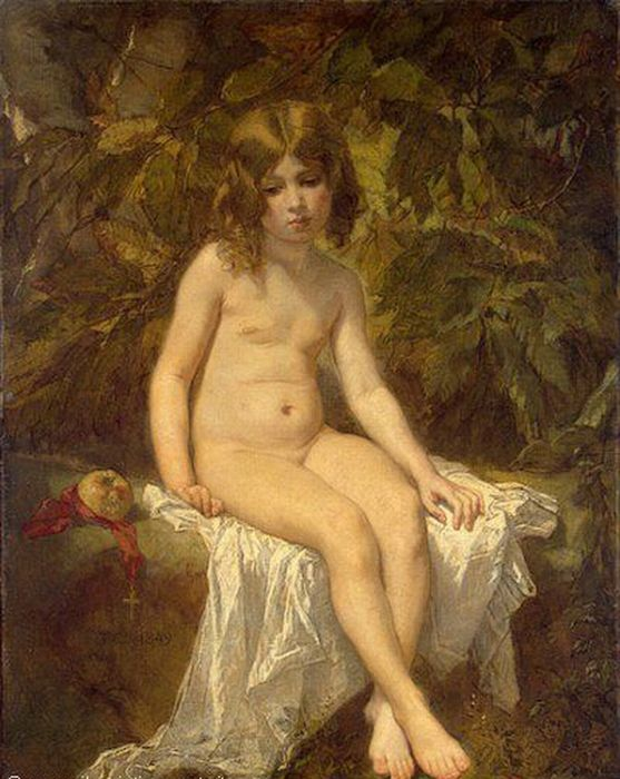 The Little Bather  Painting Reproductions