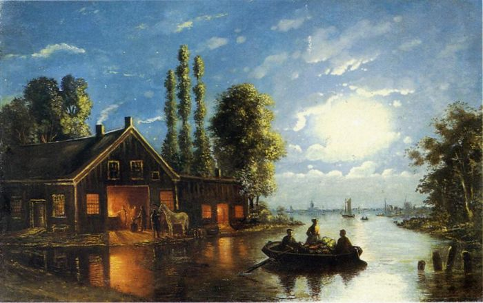 The Forge by Moonlight  Painting Reproductions