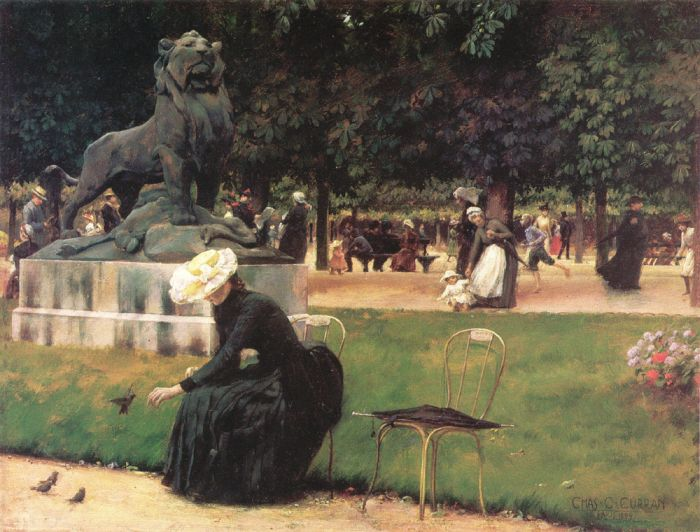 In the Luxembourg Garden , 1889  Painting Reproductions