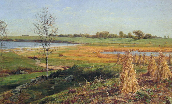 Connecticut Shoreline in Autumn  Painting Reproductions