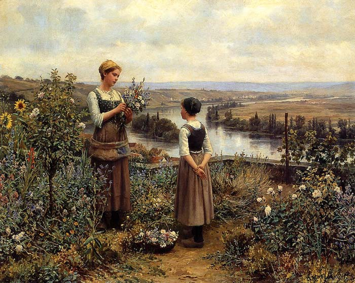 Picking Flowers  Painting Reproductions