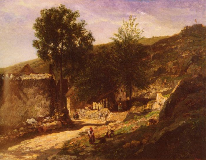 Entree De Village, 1855  Painting Reproductions