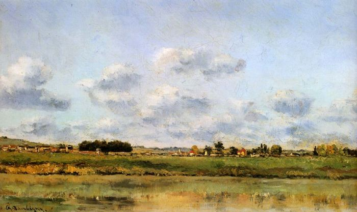 Banks Of The Loing  Painting Reproductions