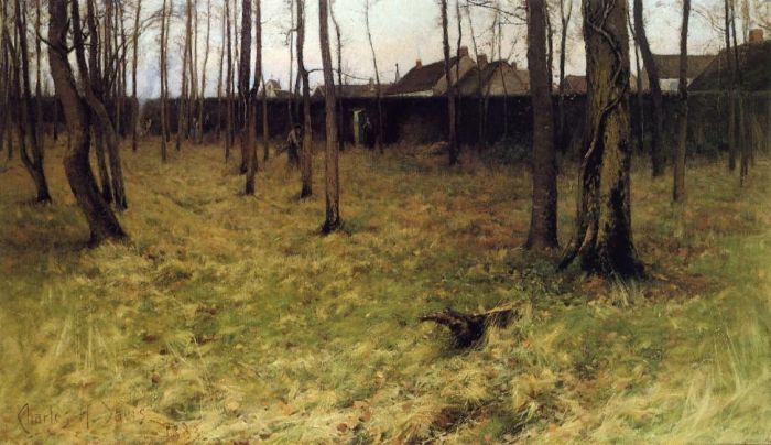 Outside the Village , 1883 Davis, Charles Harold Painting Reproductions