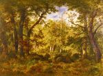 A Sunlit Clearing In The Forest At Fontainebleau , 1868 Art Reproductions
