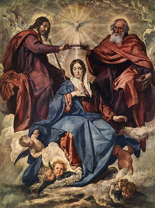 The Coronation of the Virgin, 1641-1644  Painting Reproductions