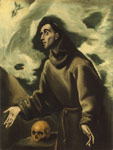 El Greco, -Domenikos Theotokopolos Saint Francis receiving the Stigmata Art Reproductions