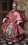 El Greco, -Domenikos Theotokopolos Portrait of a Cardinal, c.1600 Art Reproductions