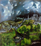 El Greco, -Domenikos Theotokopolos View of Toledo Art Reproductions