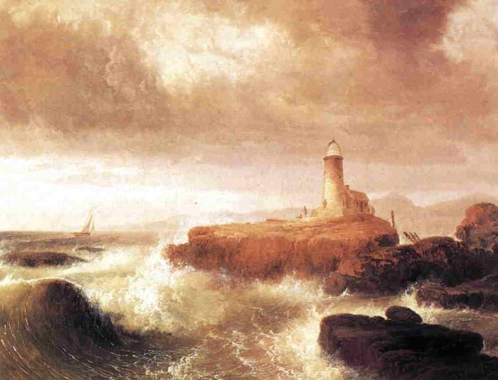 Desert Rock Lighthouse , 1836  Painting Reproductions
