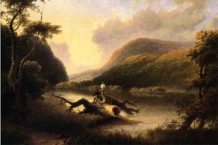 Passage of the Delaware through the Blue Mountain, 1827  Painting Reproductions