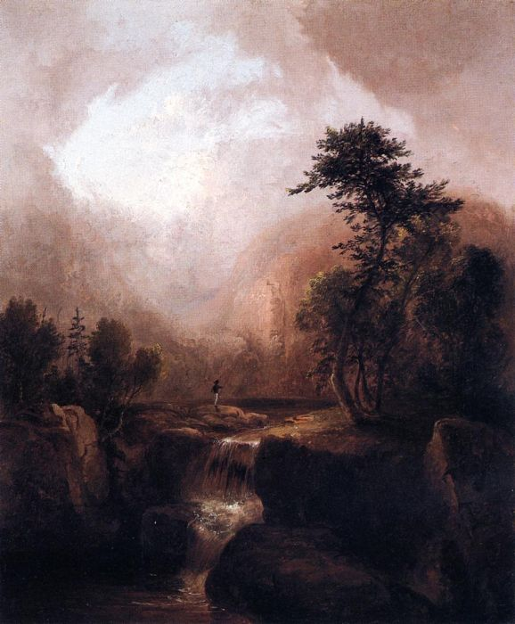 Landscape with Waterfall , 1836  Painting Reproductions