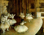 2105 Ballet Rehearsal on Stage, 1874 Art Reproductions