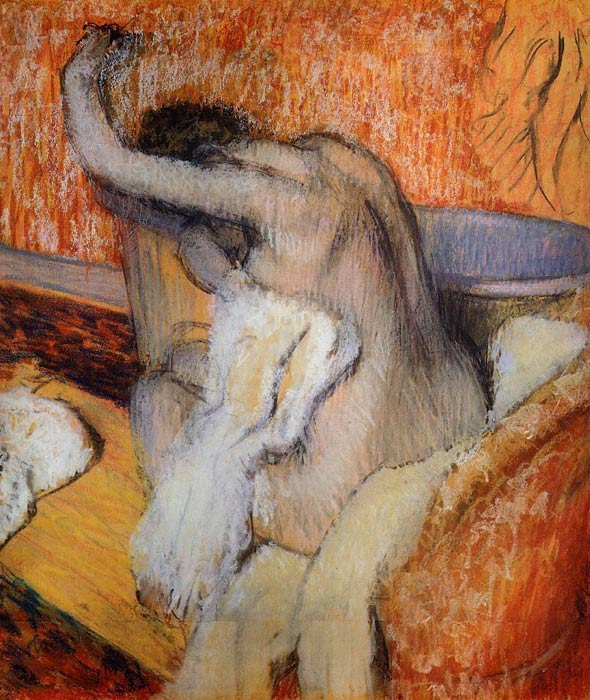 After the Bath Degas, Edgar Painting Reproductions