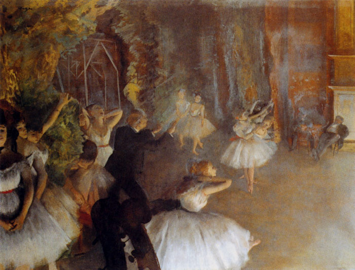 The Rehearsal Of The Ballet Onstage, 1874  Painting Reproductions