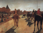 2153 Racehorses in Front of the Grandstand, 1866-1868 Art Reproductions