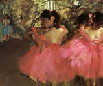 2155 Dancers in Pink, 1880-1885 Art Reproductions