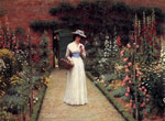 Leighton, Edmund Blair Lady in a Garden Art Reproductions
