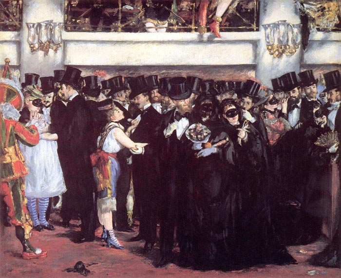Masked Ball at the Opera Manet, Edouard Painting Reproductions
