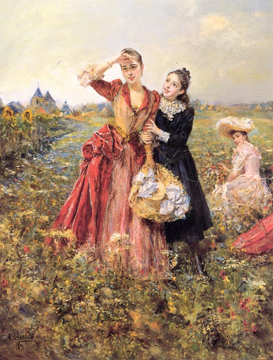 Picking Wildflowers, 1891  Painting Reproductions
