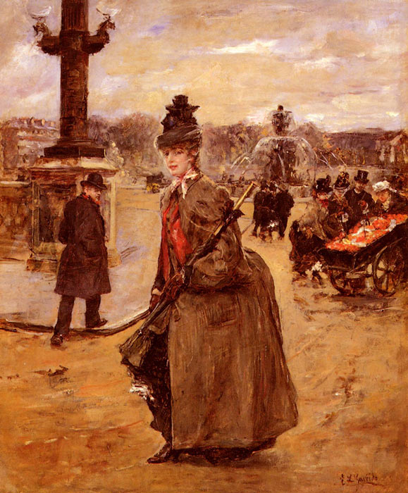 Elegante, Place De La Concorde, Paris  Painting Reproductions