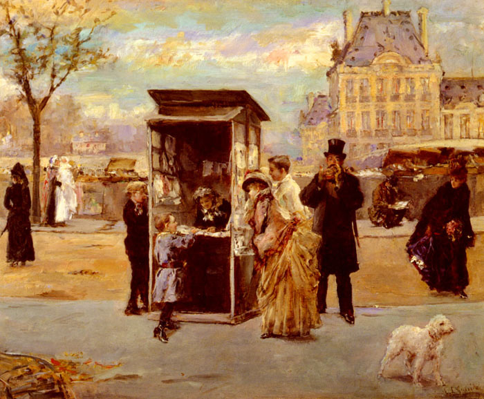 The Kiosk by the Seine  Painting Reproductions
