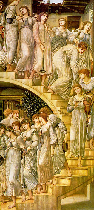 The Golden Stairs, 1876-1880 Burne-Jones,Sir Edward Coley Painting Reproductions