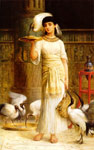 Long, Edwin Longsden Ale the Attendant of the Sacred Ibis in the Temple of Isis Art Reproductions