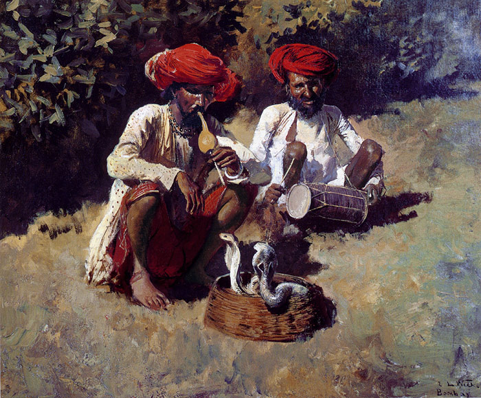 The Snake Charmers, Bombay  Painting Reproductions